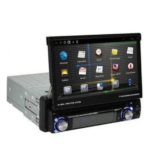 Автомобильная магнитола 1DIN DA-7001 с выдвижным экраном + пульт управления   Автомагнитола