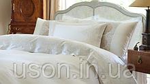 Комплект постельного белья сатин люкс Pepper home евро размер с вышивкой Teresa krem