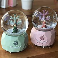 """Куля сніжна """"Дівчина під деревом"""", мікс, Снежный шар """"Девочка под деревом"""", фото 2"""