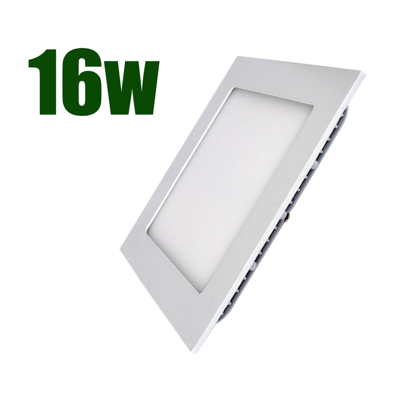 Светильник светодиодный встраиваемый LEDEX 16Вт 4000K 1440lm квадрат белый (102239)