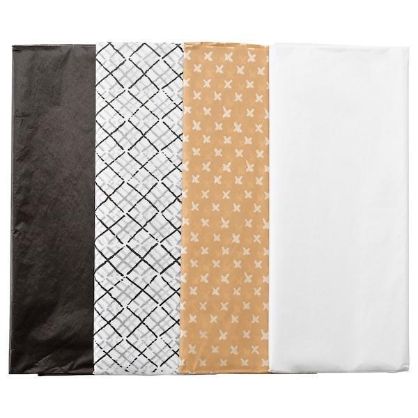 IKEA, GIVANDE, Пакувальний папір, натуральний чорний, білий, 50x70 см, (703.400.96)
