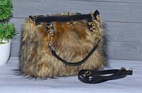 Меховая сумочка под натуральный мех песца, фото 1