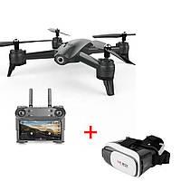 Квадрокоптер S165 2 камеры Ultra HD 4K + 720p, летающий дрон, 20 минут полёта черный стабилизация