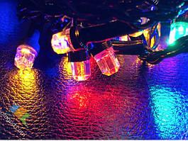 Гирлянда Нить Кристалл 100 LED на Елку Цвета в Ассортименте Черный Провод