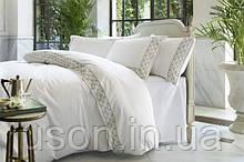 Комплект постельного белья сатин люкс Pepper home евро размер с вышивкой Angelo