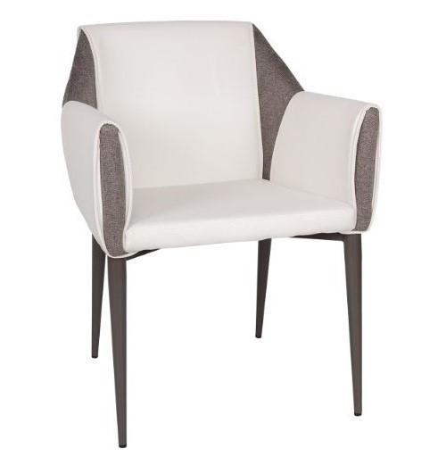 Кресло TOSCANA (61*62*82 см) белый/серый