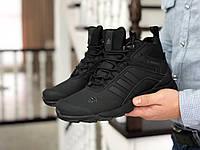 Мужские зимние кроссовки Adidas 8745 черные