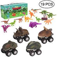 Конструктор детский Динозавры 19 предметов, развивающая игрушка, подарок для ребенка