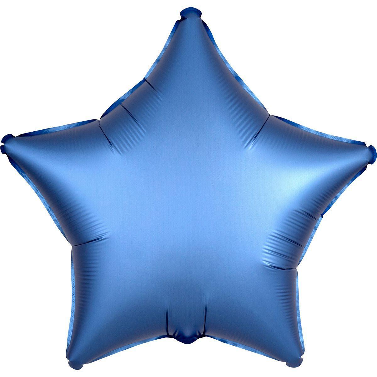 """Кулька 18""""(46 см) Зірка сатин блакитна( )"""