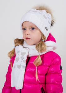 Комплект шапка+шарф для девочки