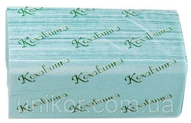 """Полотенца бумажные V-сложения, зелёные, """"Кохавинка"""" 200 шт/уп."""