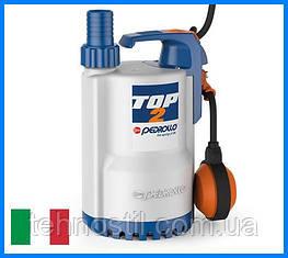 Дренажний насос Pedrollo TOP 2 (13.2 м³, 9 м, 0.37 кВт)