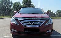 Дефлектор капота (мухобойка) Hyundai Sonata (YF) 2009-