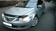 Дефлектор капота (мухобойка) Mazda 6 2002-2008