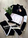 IDOL Женский спортивный прогулочный костюм с лампасами кофта на замке L-ка черный, фото 2