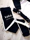 IDOL Женский спортивный прогулочный костюм с лампасами кофта на замке L-ка черный, фото 3