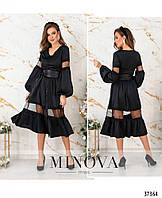 Платье №4114-черный