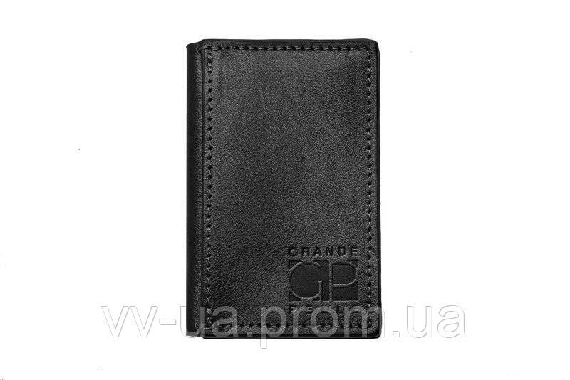 Картхолдер Grande Pelle Cartolina, глянец, черный, кожа (303610)