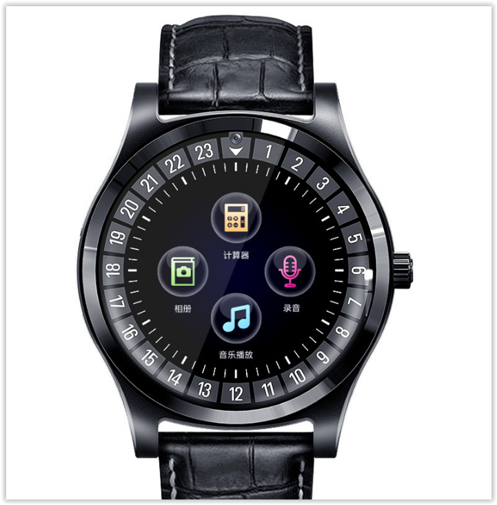 Розумні смарт годинник з bluetooth Lemfo TH88 шкіряний браслет СІМ+Карта памяті