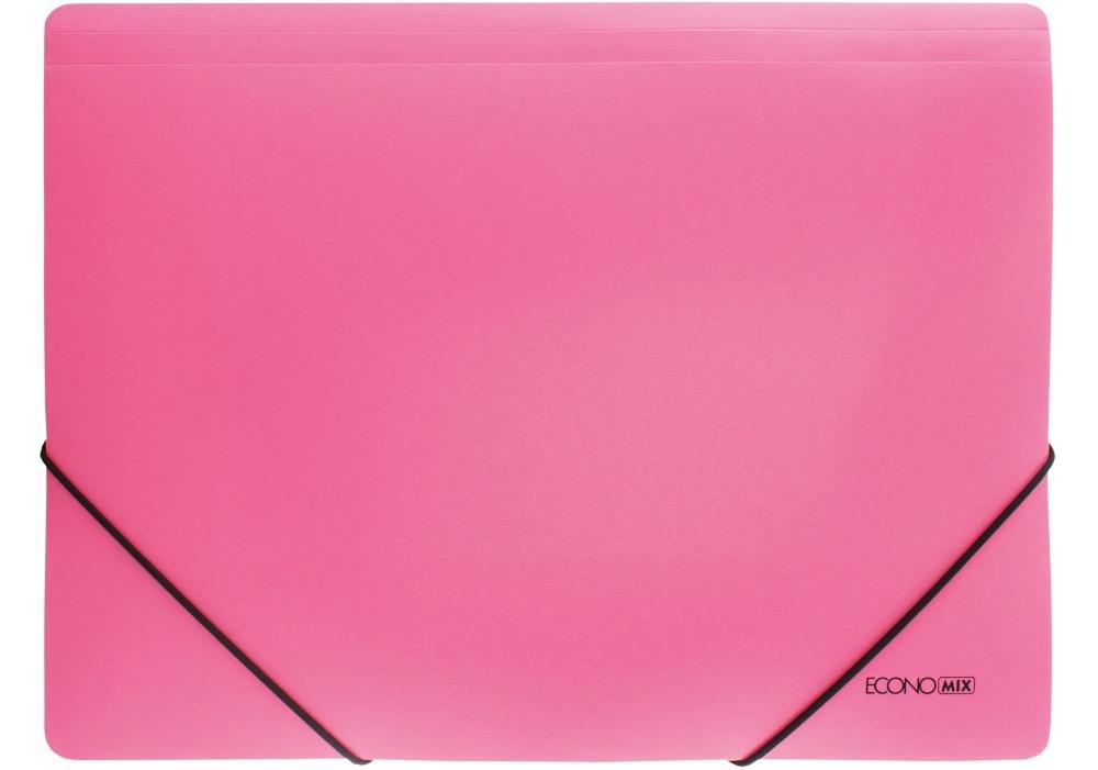 "Папка пластиковая А4 на резинке Economix, фактура ""помаранч"", розовая E31633-09"