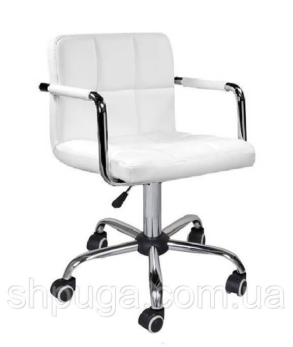 Кресло Артур КО, экокожа, цвет белый колеса
