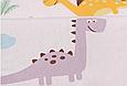 Сатин (хлопковая ткань) яркие динозавры (90*160), фото 3