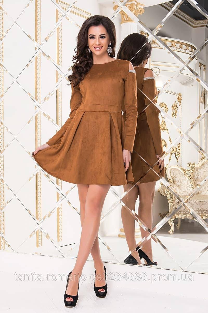 Повседневное платье 7220e Коричневый S(р)