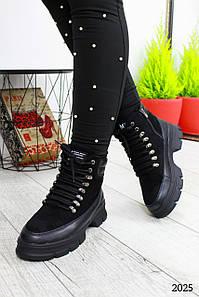 """Кроссовки """" Small """" Черные.. Теплые кроссовки. Зима."""