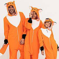 Пижама Кигуруми  лисица для всей семьи от Украинского производителя