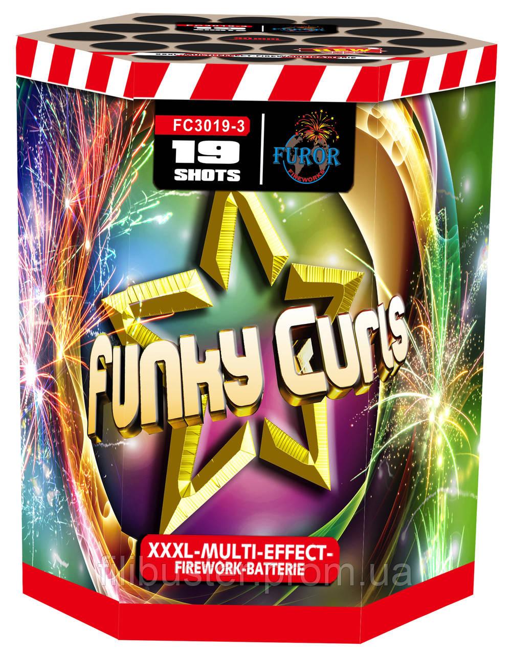 Салют Funky Curls на 19 выстрелов