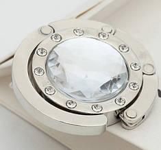 Крючок держатель для женской сумки Кристалл Прозрачный