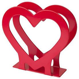 IKEA, ВИНТЕРФЕСТ, САЛФЕТНИЦА, сердце, красное, (004.330.13)