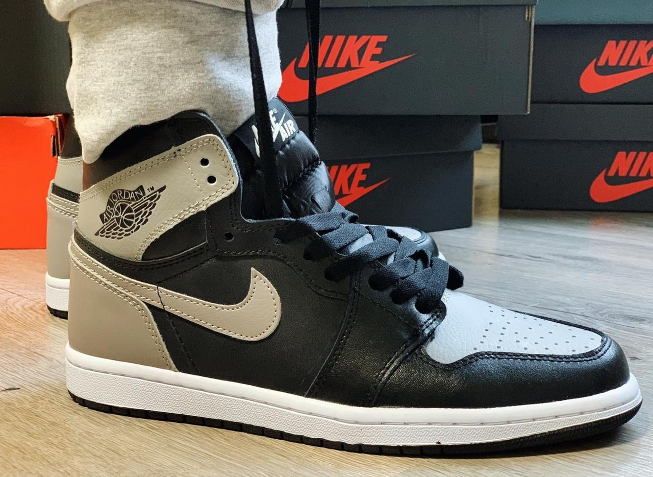 """Кроссовки Nike Air Jordan 1 retro """"Черные / Белые / Серые"""""""