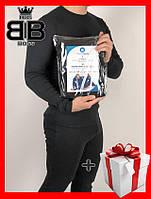 Термобелье  мужское Теплое норвежское  черное