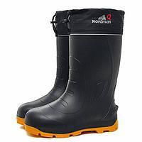 Зимние сапоги Nordman Quaddro с подошвой ТЭП и шипами до -50 ºС black