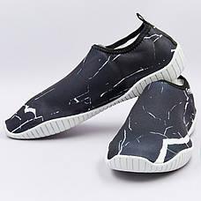 Обувь для пляжа и кораллов ZS002 размер (24см (36-37), Черный-белый), фото 3