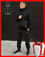 Куртка мужская утепленная, спортивная  с капюшоном ,анорак, демисезонная, комплектом + Подарок