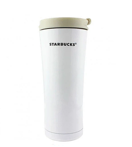 Термокружка Starbucks-3 500 мл   Тамблер Старбакс   Термос   Белая