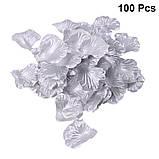 Набор 100 шт серебряных искусственных лепестков роз, фото 2