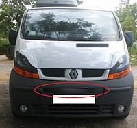 Renault Trafic 2001-2006 зимняя заглушка накладка защита на решетку радиатора Рено Трафик Renault Trafic 2001-2006 (средняя) глянец