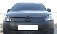 Volkswagen Caddy 2010- зимняя заглушка накладка защита на решетку радиатора Фольксваген Кадди Volkswagen Caddy 2010- (верх решетка) матовая