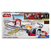 Трек  Hot Wheels Crait Assault Racerway Хот Вилс Звездные Войны