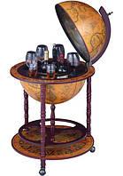 Глобус бар напольный 45001 R большой на трех ножках с колесиками