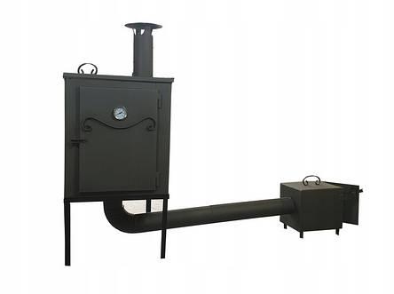Металлическая коптильня 2 в1 для холодного и горячего копчения  Smoke House, фото 2
