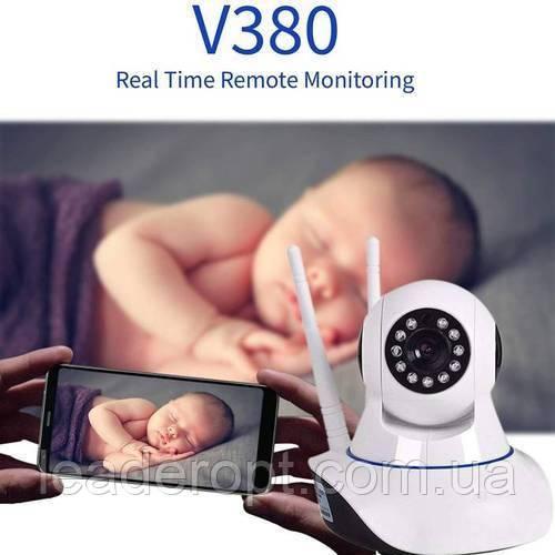 [ОПТ] Розумна Wi-Fi камера V380 IP Camera Smart Wireless з датчиком руху і нічним режимом зйомки