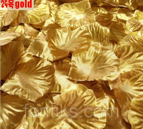 Набор 100 шт золотых искусственных лепестков роз