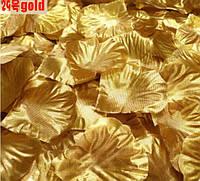 Набор 100 шт золотых искусственных лепестков роз, фото 1
