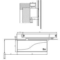 Дверний доводчик Iseo IS 65 металік, фото 2