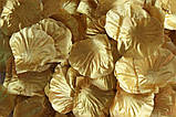 Набор 100 шт золотых искусственных лепестков роз, фото 3