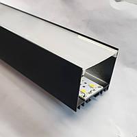 Профиль для светодиодной ленты ЛС-40 Черный, фото 1